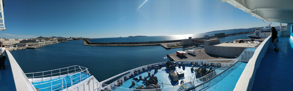 Marseille depuis le bateau